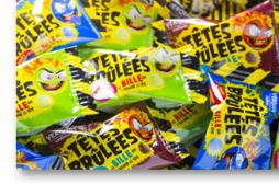 E171 : l'additif retiré des bonbons Têtes Brûlées
