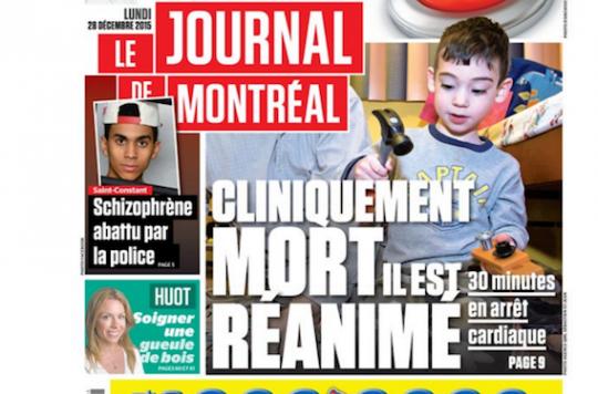 Québec :  Liam, 4 ans, survit à 30 minutes d'arrêt cardiaque