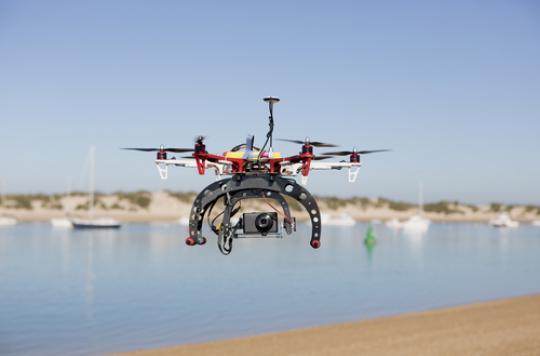 Biscarrosse : un drone contre les noyades en mer