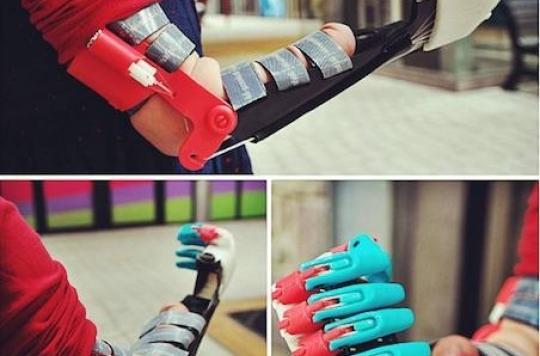 Saint-Brieuc : le fablab offre une prothèse 3D à une petite fille