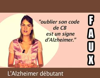 L'alzheimer débutant